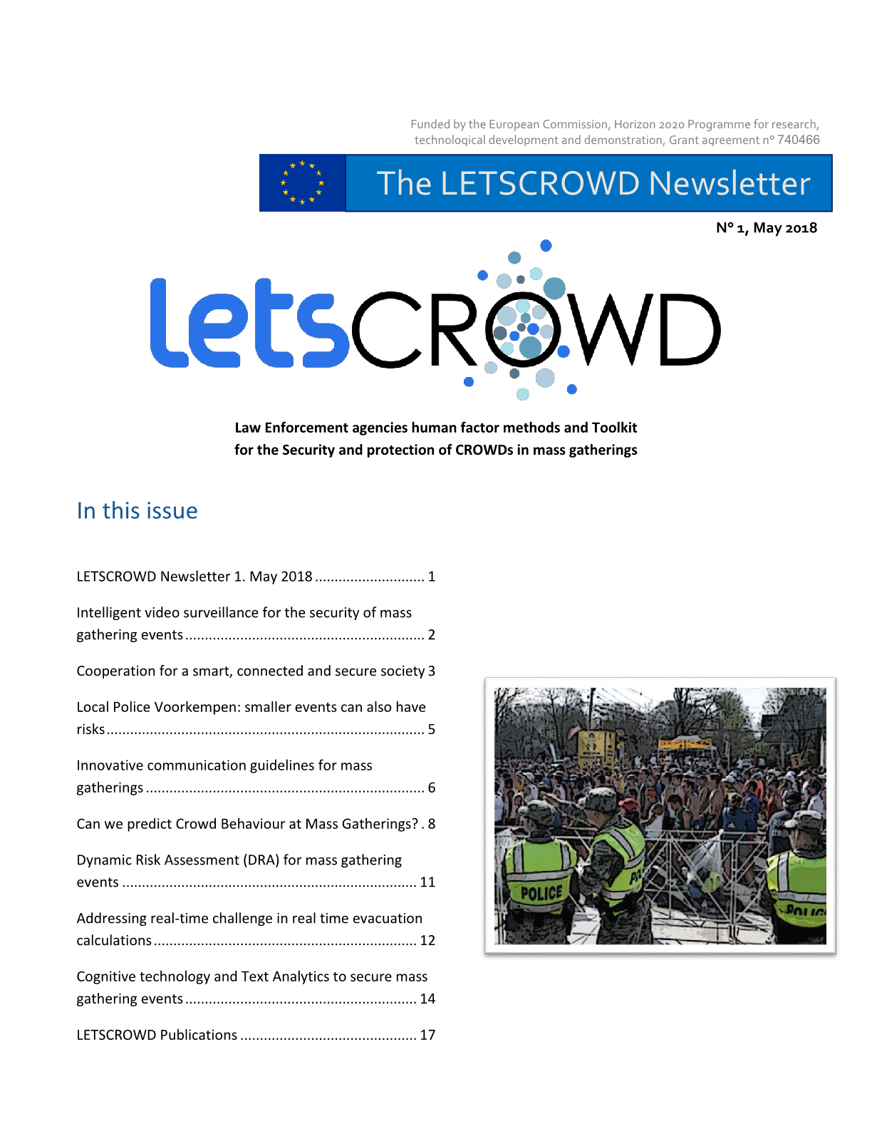 LETSCROWD Newsletter Issue 01, May 2018