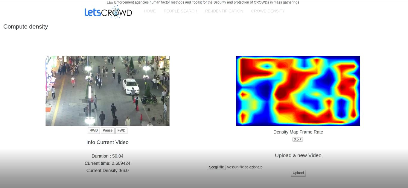 Computer vision tools to support LEA operators in monitoring mass gathering events