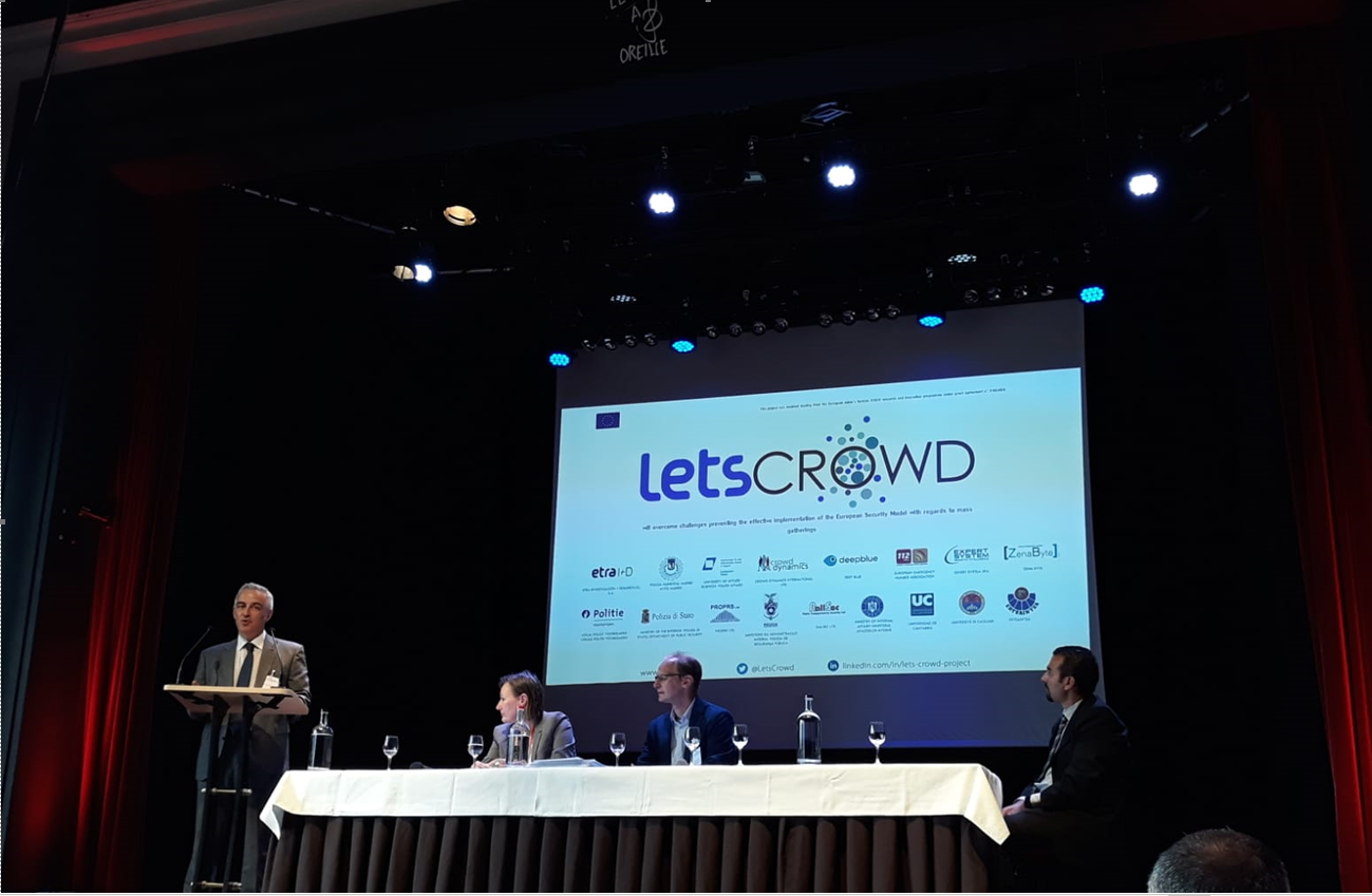 LETSCROWD results at 14th Meeting of the Community of Users on Secure, Safe, Resilient Societies, Brussels