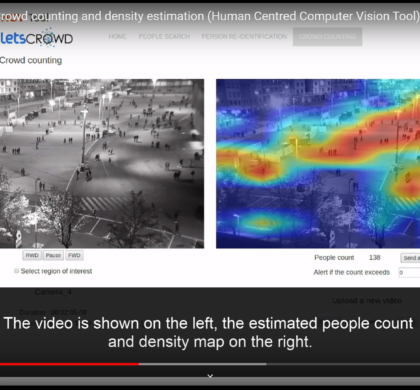 Crowd counting and density estimation – Human Centred Computer Vision Tool (HCV) – LETSCROWD Tool Videos #7