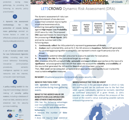 Dynamic Risk Assessment (DRA) – LESTCROWD Tool Presentation Cards #5