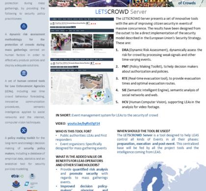 LETSCROWD Server – LESTCROWD Tool Presentation Cards #7
